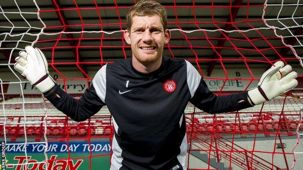 Hamilton goalkeeper Michael McGovern
