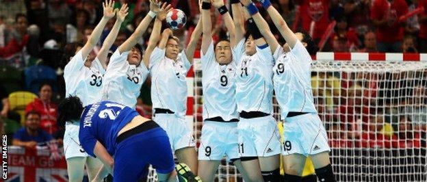 The handball competition at the Copper Box during London 2012