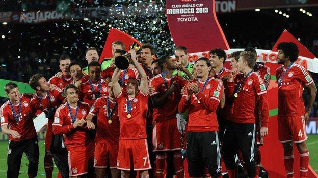Bayern Munich won the 2013 Club World Cup in Morocco