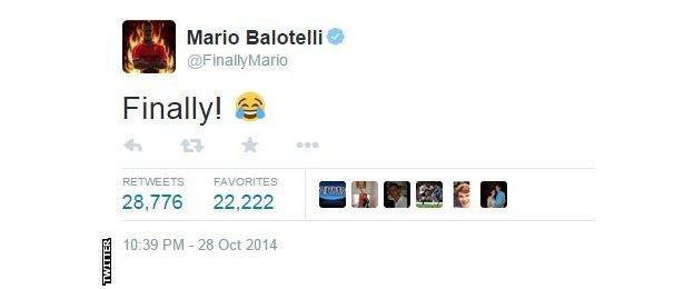 Liverpool striker Mario Balotelli