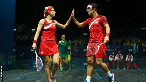 Peter Barker and Alison Waters won gold in the mixed doubles for England at the 2014 Commonwealth Games