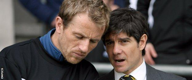 Gary Rowett (left) and Paul Peschisolido