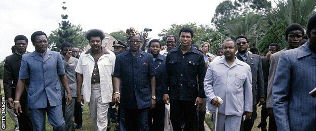 Don King, President Mobutu and Muhammad Ali