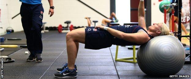 England Rugby strength and conditioning gym session