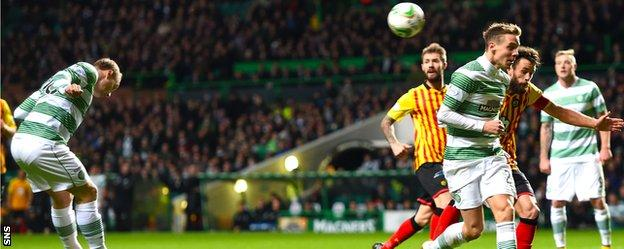 Leigh Griffiths scores for Celtic against Partick Thistle