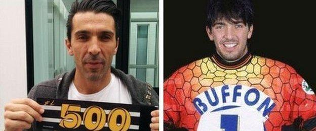 Gianluigi Buffon took to Twitter to show off his special captain's armband