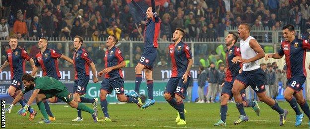 Genoa celebrate