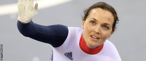 Victoria Pendleton wins the silver sprint track medal at London 2012