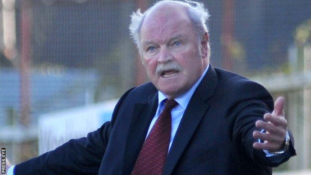 Portadown manager Ronnie McFall