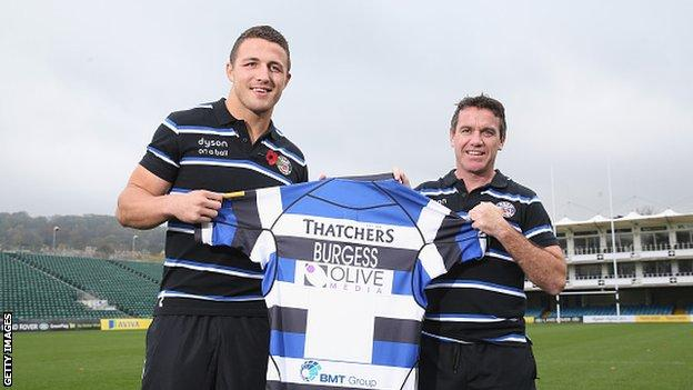 Sam Burgess and Mike Ford