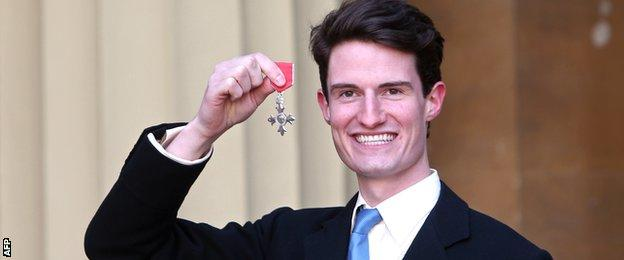 Peter Wilson with his MBE