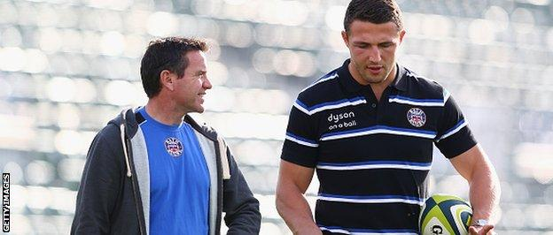 Mike Ford (left) with Sam Burgess