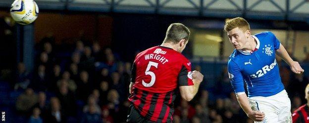 Lewis Macleod scores for Rangers against St Johnstone