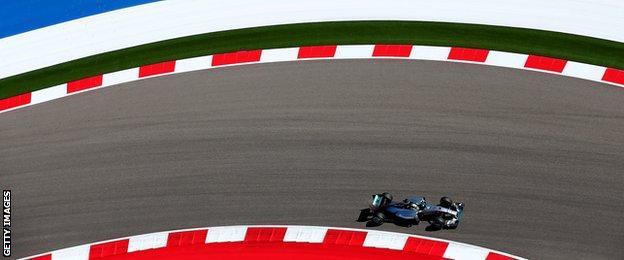 Lewis Hamilton at the US Grand Prix