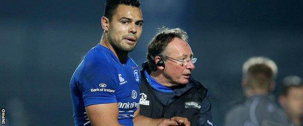Former Samoan Rugby League star Ben Te'o's Leinster debut was cut short