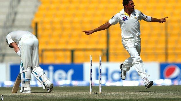Michael Clarke is bowled by Imran Khan