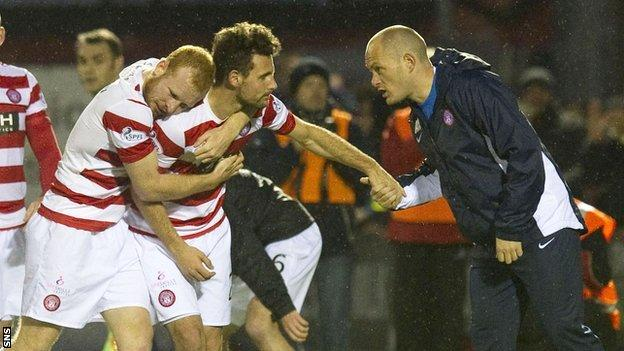 Alex Neil congratulates Tony Andreu