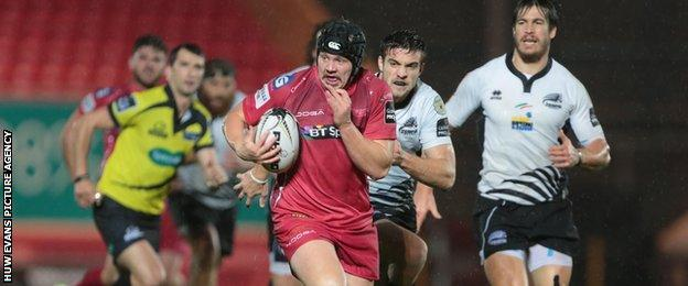 Scarlets forward James Davies is the brother of Wales and British Lions centre Jonathan Davies