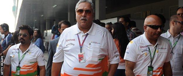 Vijay Mallya of Force India