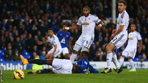 A close shave for Swansea against Everton