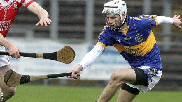 Eoghan Sands produced a superb display in the second half against Cushendall