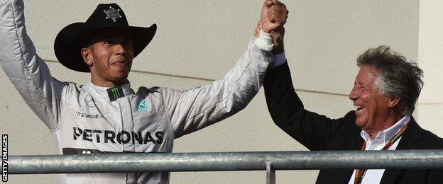 Lewis Hamilton and Mario Andretti