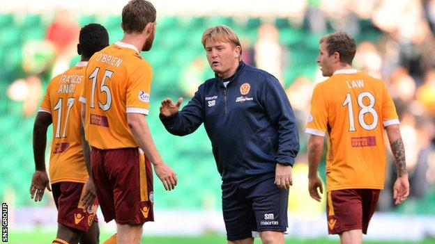 Motherwell manager Stuart McCall has left the club