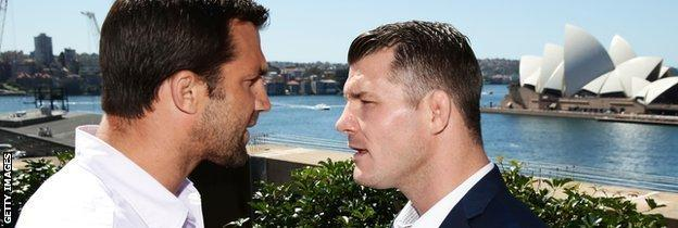 UFC's Luke Rockhold and Michael Bisping face off