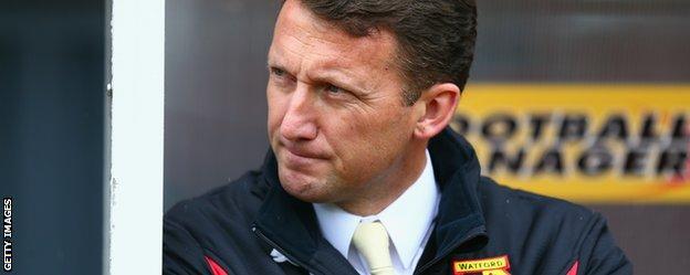 Billy McKinlay in the Watford dugout