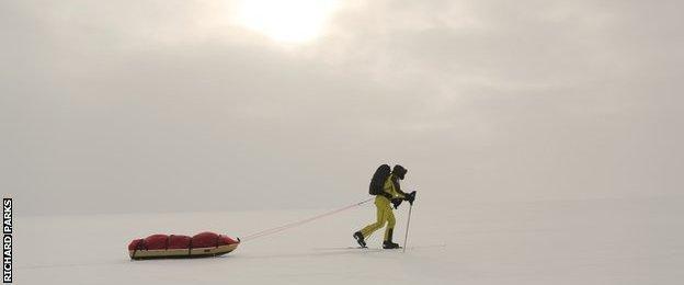 Richard Parks reaches the South Pole