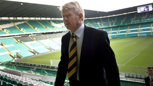Scotland manager Gordon Strachan returns to Celtic Park