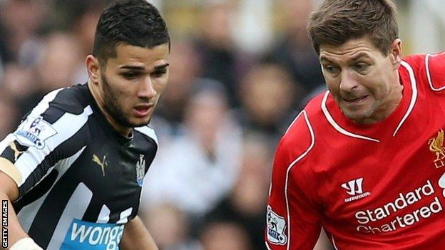 Mehdi Abeid and Steven Gerrard