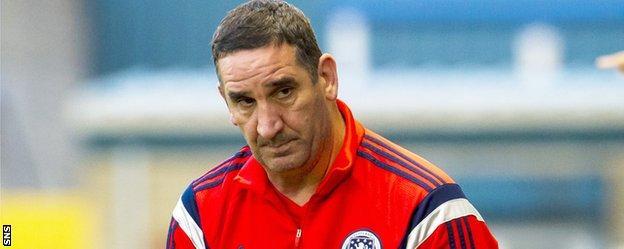 Scotland youth coach Ricky Sbragia