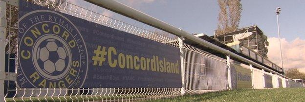 Concord Rangers' Thames Road ground