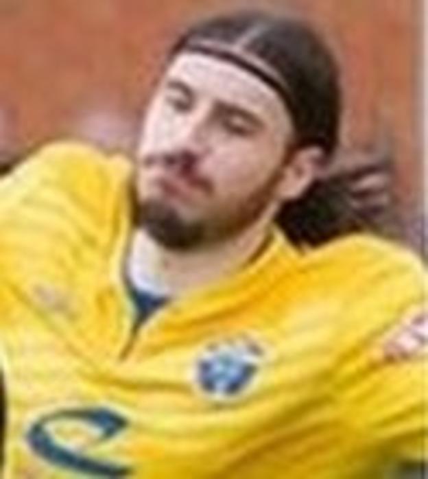 Warrington Town defender Lewis Field