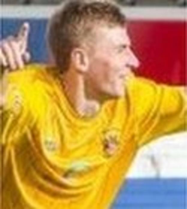 Warrington Town full-back Phil Davies