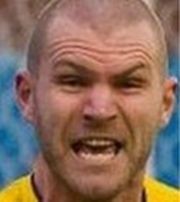 Warrington Town defender Craig Robinson