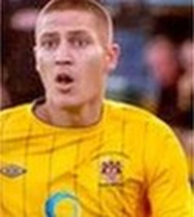 Warrington Town midfielder Scott Metcalfe