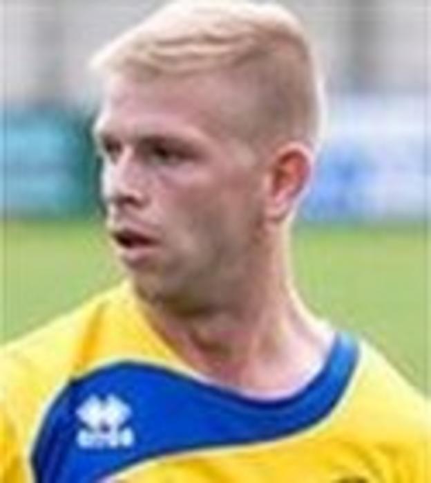Warrington Town midfielder Chris Gaghan