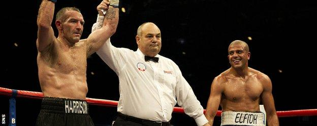 """Scott Harrison saw off the 'Moroccan Machine"""" Joe Elfidh in one of the Scots recent fights"""