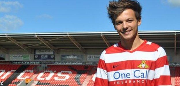 One Direction's Louis Tomlinson Doncaster Rovers
