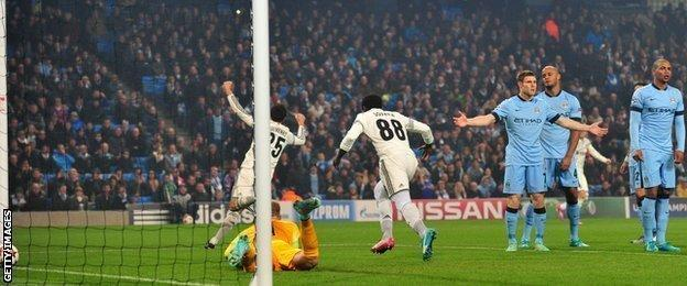Seydou Doumbia celebrates his side's opening goal