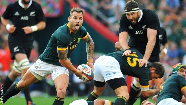 Francois Hougaard in action in South Africa's win over New Zealand last month