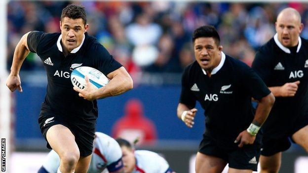 New Zealand fly-half Dan Carter