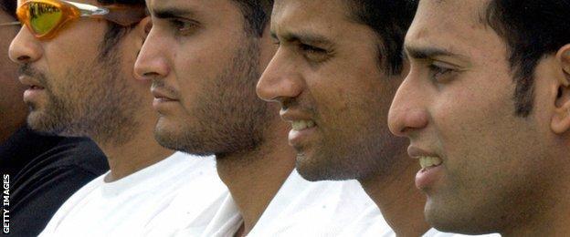 Sachin Tendulkar, Sourav Ganguly, Rahul Dravid and VVS Laxman