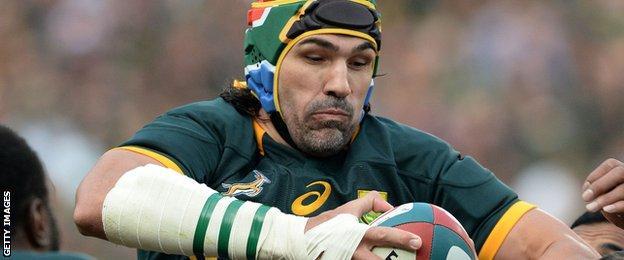 South Africa lock Victor Matfield