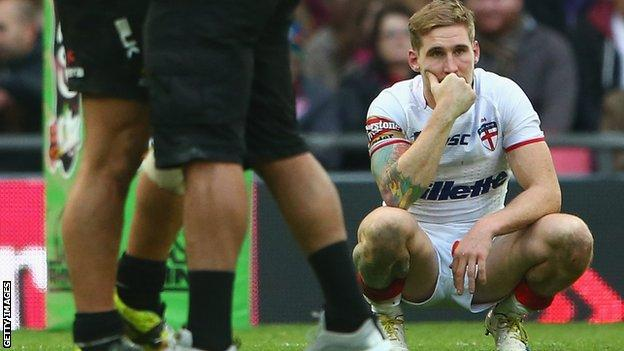Sam Tomkins after New Zealand's 20-18 defeat of England in the 2013 World Cup
