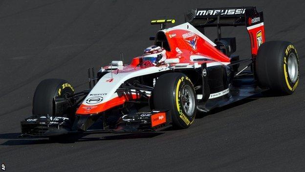 Max Chilton of Marussia
