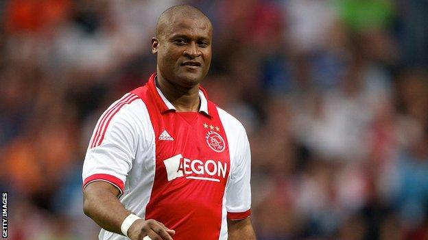 Winston Bogarde in action in an Ajax charity game