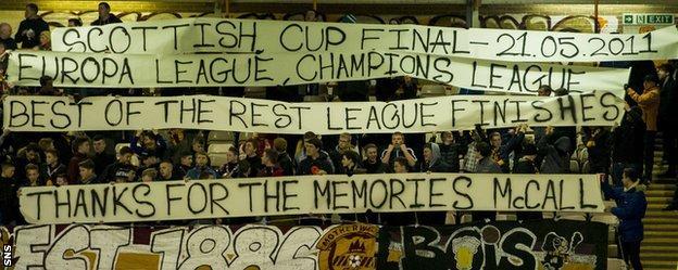 Motherwell fan banners